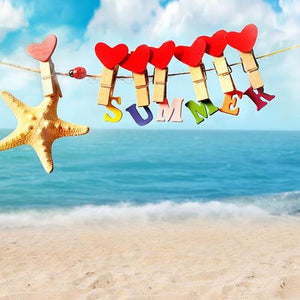 Summer Backdrops Blue Background Beach Backdrops S-3232