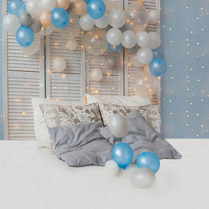 Headboard Backdrops Balloon Backdrops Blue Background S-3237