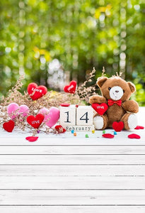 Valentine's Day Backdrops Love Backgrounds Patterned Backdrops S-3251