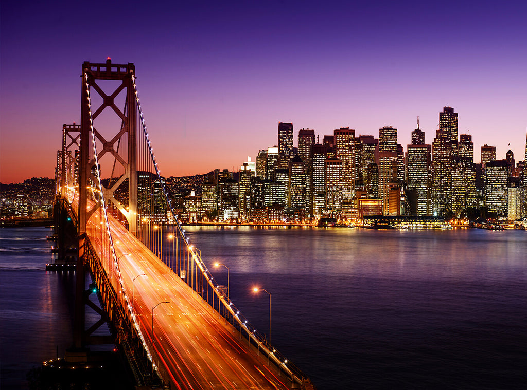 San Francisco Bridge Night View Photography Backdrops IBD-24267