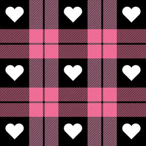 Scottish Love Red and Black Grid Background Photography Backdrop IBD-19538