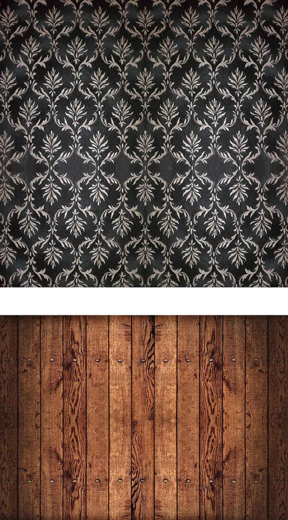 Patterned Backdrops Damask Backdrops Black Background