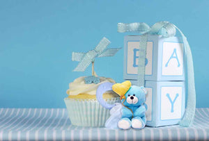Kid Backdrops Candy & Food Backdrops Blue Background WY00039-E