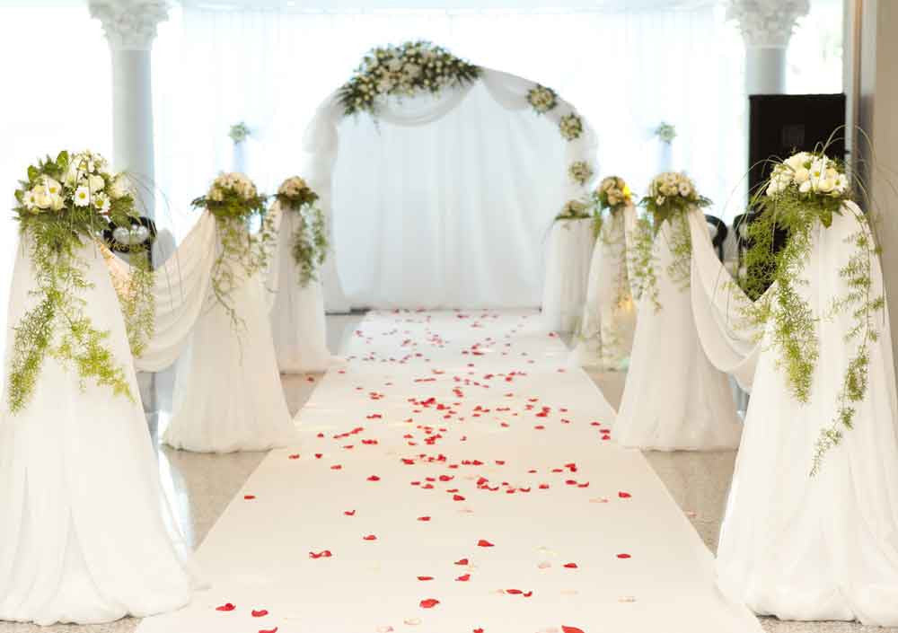 Custom Backdrops Wedding Backdrops White Color Background YY00008-E