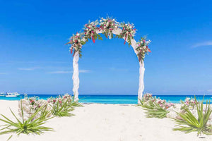 Custom Backdrops Beach Wedding Backdrops Flower Background YY00044-E