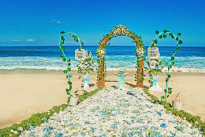 Custom Backdrops Beach Wedding Backdrops Flower Background YY00156-E