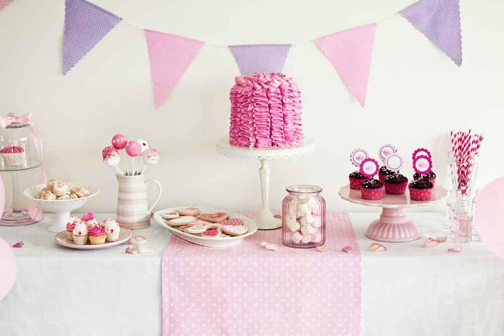 Baby Backdrops Food Background Cake Backdrop Pink Backdrops YY00202-E