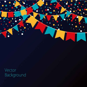 Bunting Backdrops Dark Background Polka Dot Printed Backdrops YY00246-E
