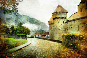 Scenic Backdrops Castle Backdrop Mountain Background YY00409-E