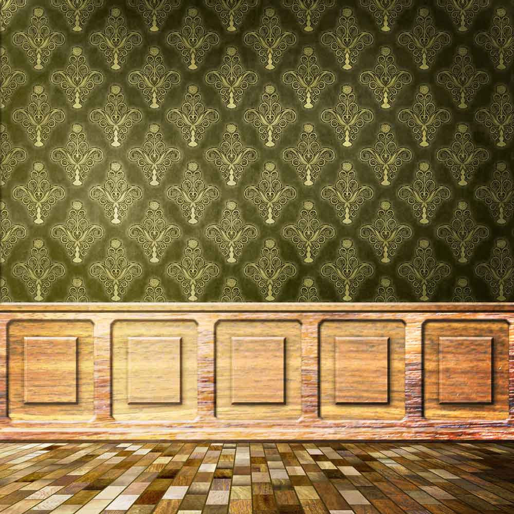 Patterned Backdrops Damask Backdrops Green Background