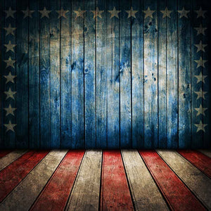 Bunting Backdrops Wooden Backdrop Patriotic Background YY00590-E