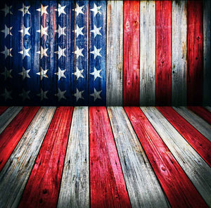 Bunting Backdrops Wood Backdrop American Flag Background YY00603-E
