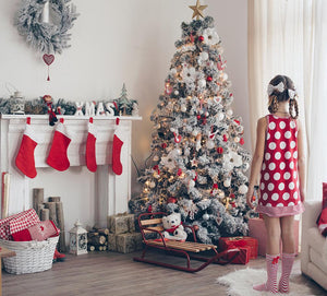 Indoor Decoration Background Christmas Backdrops For Portrait Ideas IBD-H19201