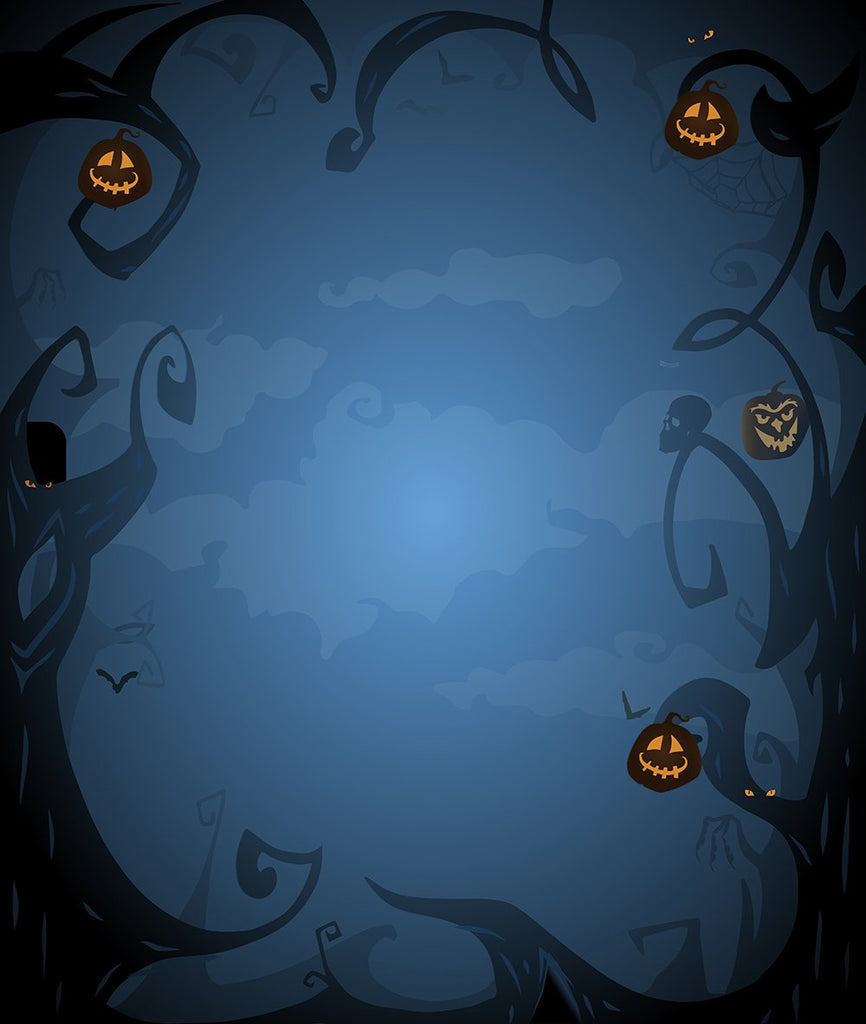 Festival Backdrops Halloween Backdrops Blurry Background Pumpkin Lanterns IBD-P19057