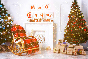Bokeh And Blurred Backdrops Christmas Decorations Background Photography Backdrops IBD-H19185