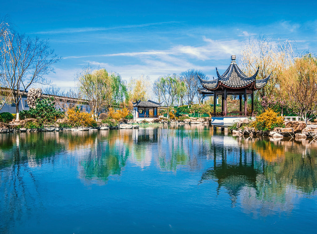 China Suzhou Gardens View Tour Photography Backdrops IBD-24268