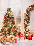 Christmas Tree Decorating Ideas Christmas Backdrop For Home Decor IBD-P19165