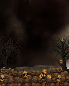Dark Backdrop Skull Background Halloween Festival Backdrops