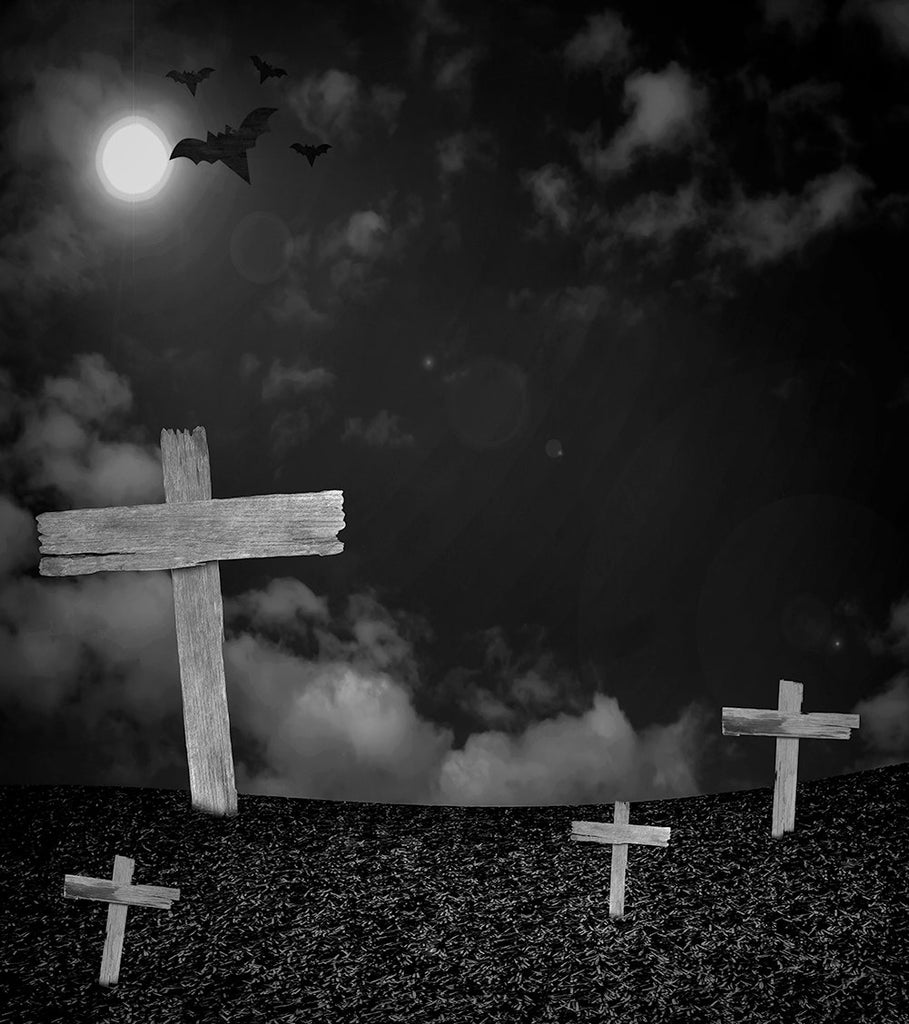 Dark Background Gigantic Cross Halloween Festival Backdrops IBD-P19097 - iBACKDROP