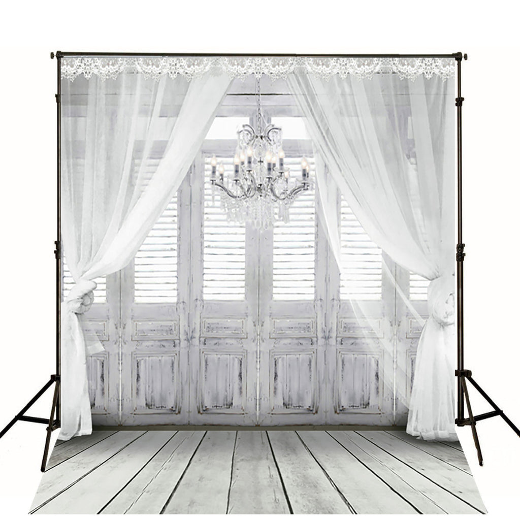 Scenic Backdrops Door Window Background Curtains Backdrops gc-2086-1