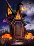 Festival Backdrops Halloween Backdrops  Weird Wizard House IBD-P19033