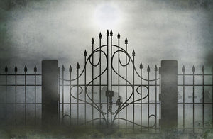 Halloween Backdrops Festival Backdrops Horrible Iron Gate Background