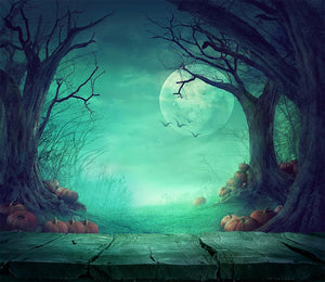 Halloween Backdrops Festival Backdrops Weird Moonlight Pumpkin Background