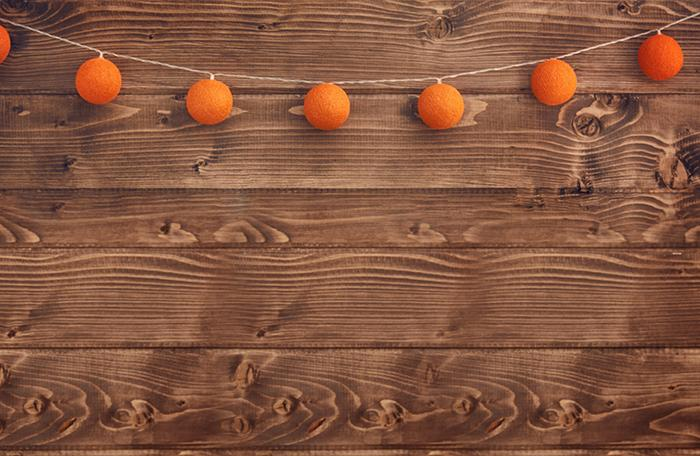 Wood Background Hang on Little Pumpkins Layout Halloween Backdrops IBD-H19110