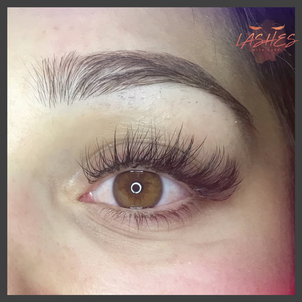 Hybrid eyelash extension full set