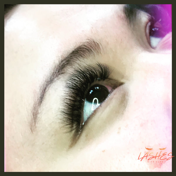 Volume eyelash extension full set