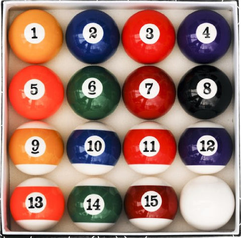 Pool Table Billiard Ball Set, Art Number Style - Talisman Billiards