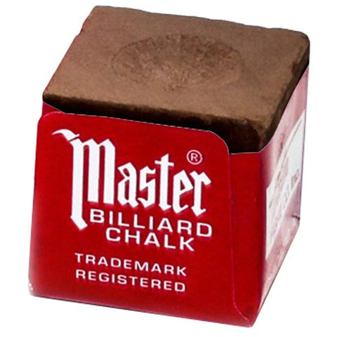 Master Billiard/Pool Cue Chalk Box, 12 Cubes - Talisman Billiards