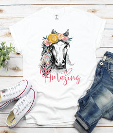 Be Amazing Horse Print T-shirt