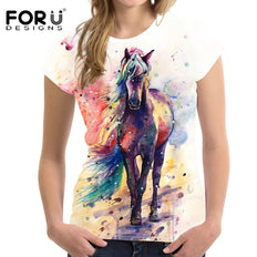 Horse Watercolor Art Painting T-shirt