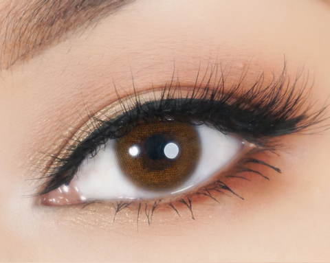 Natural colored contact lenses I-Dol Honey Brown