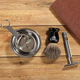 Miusco Shaving Razor & Brush Stand with Soap Bowl Set