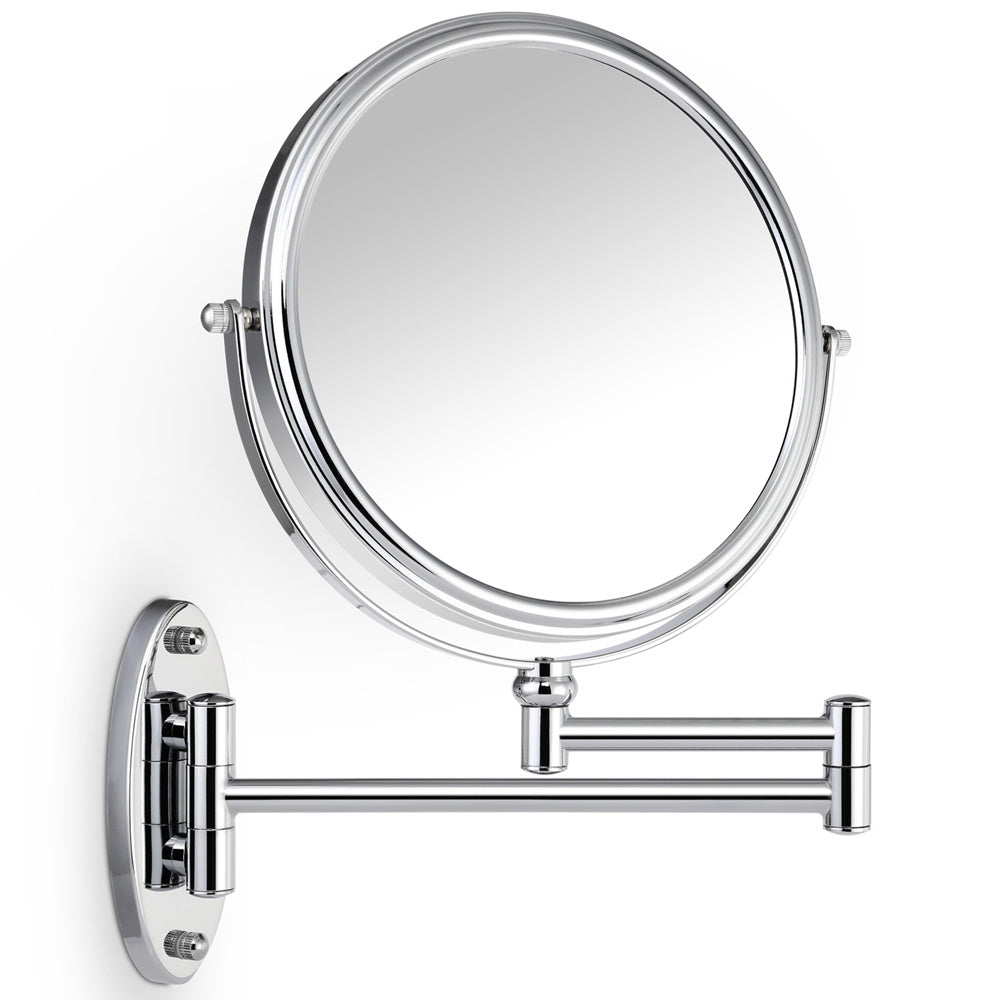7X Magnifying Bathroom Wall Mirror,Round Extendable Vanity Mirror