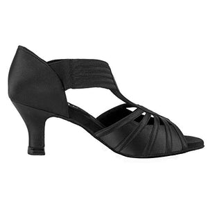 Salsa Heels Ballroom Dance Shoes Black - SheSole