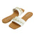 Womens Slide Sandals With Pearls Accents - SheSole