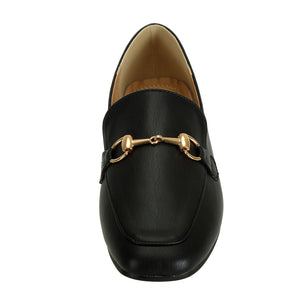 Comfortable Black Loafers For Women - SheSole