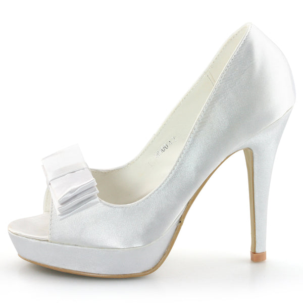 Satin Bridal Shoes High Heel Pumps - SheSole