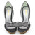 Womens Bow Peep Toe Stiletto Pumps Shoes - SheSole
