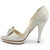 Women's Bow Peep Toe Stiletto Pumps Shoes - SheSole