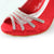 Red Peep Toe Heels Pumps Shoes - SheSole