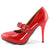 Mary Jane Heels Red Pumps - SheSole