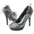 Black Embroidered Heels Pumps Shoes - SheSole
