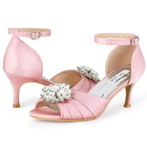SheSole Peep Toe Heels ankle strap Pumps Shoes - SheSole