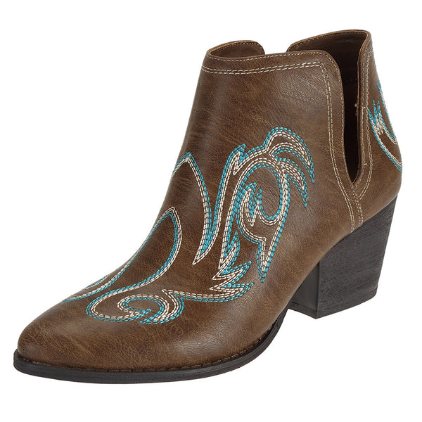 SheSole Womens Ankle Booties Brown - SheSole