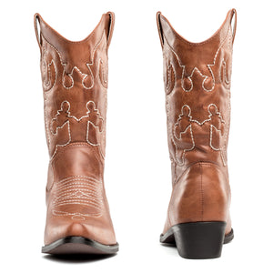 SheSole Womens Wide Calf Cowboy Boots - SheSole