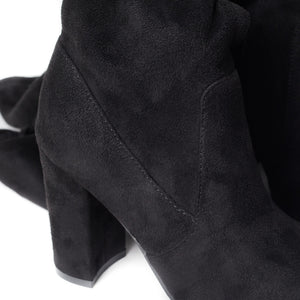 SheSole Women's Thigh High Over The Knee Black Boots - SheSole